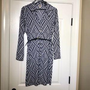 Anne Klein Navy belted dress